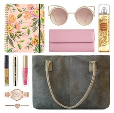"""""""Inside Look"""" by katiegreece ❤ liked on Polyvore featuring Rifle Paper Co, Too Faced Cosmetics, L'Oréal Paris, Winky Lux, Michael Kors, MANGO and Lodis"""