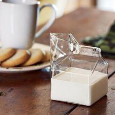 Glass Milk Carton Jug