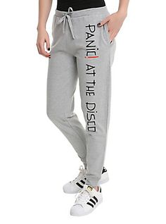 Panic! At The Disco Logo Girls Jogger Pants, GREY