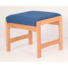 Wooden Mallet Dakota One Seat Bench Wood Finish: Light Oak, Fabric: Vinyl Green