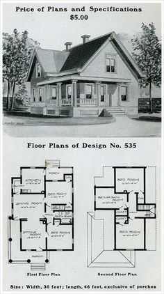 Design No. 535 THE RADFORD AMERICAN HOMES: 100 HOUSES ILLUSTRATED