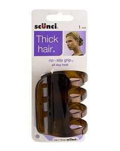 Scunci Thick Hair No Slip Grip Jaw Clip 10121890 16 Advantage card points. The Scunci jaw clip ensures thick hair stays clipped back. FREE Delivery on orders over 45 GBP. http://www.MightGet.com/february-2017-1/scunci-thick-hair-no-slip-grip-jaw-clip-10121890.asp
