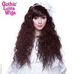 Gothic Lolita Wigs®  Rhapsody™ Collection - Black Mahogany Burgundy Mix #lolita #wig #wig4wig #glw #gothcilolitawigs #pastelhair #curlyhair #princess #doll #dolly #livingdoll #lolitafashion #Jfashion #makeupartist #circlelenses #eyelashes #rockalash #dolluxe #lash #lashes #kawaii #cute #pretty #gyaru #mori #ulzzang #angelicpretty #babythestarshinebright Natural Wigs, Circle Lenses, Angelic Pretty, Living Dolls, Pastel Hair, Gyaru, Lolita Fashion, Gothic Lolita, Ulzzang