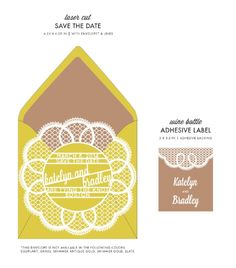 Doily Save the Date Cards by honey-paper.com #wedding #savethedate #aviedesigns #papercuts