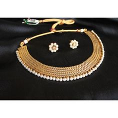 Online Shopping for GORGEOUS ANTIQUE PEARL NECKLACE SET | Jewellery Sets | Unique Indian Products by Dreamjwell - MDREA25691766990