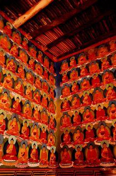 tangkha painting, chemday monastery, sakti, ladakh, india