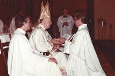 Paulist Fr. Daniel McCotter at his ordination in May, 1981, with Cardinal Terence Cooke.
