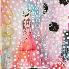 From iHannas on Instagram / Hanna Andersson: Favorite detail.  Altered book and polka dots.   #ihannasartjournal                 #cutandpaste#visualjournal #journaladdict#artjournal #artjournaling#journal #journaling #journalling  #mixedmedia #alteredbook  #documentinglife #documentyourlife #artmarksjournal #freeformcreating     #visuelldagbok #skapande #pyssel