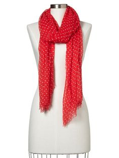 Gap Ditzy Dot Scarf -need this in navy!!