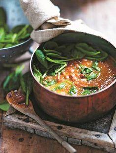 Borlotti Beans in Tomato Sauce with Creamy Polenta | Food | Pinterest ...
