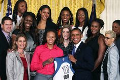 The Minnesota Lynx made were invited to the White House to meet President Barack Obama. He congratulated them on winning their 2011 WNBA Championship.
