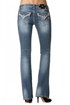 Miss Me Bold Diamond Border Flap Boot Cut (JW6192B) - $99.00
