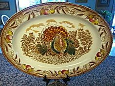 vintage turkey platters | Vintage turkey platter for sale at More Than McCoy at http://www ...