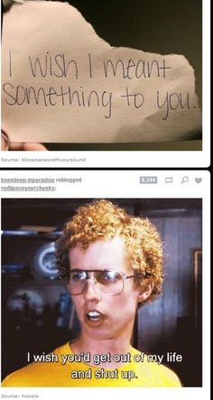 When Napoleon Dynamite had something to say about your emo post. | 19 Times Tumblr Had Hilariously Perfect Timing