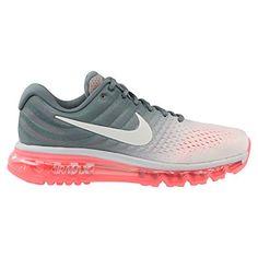 Nike Womens Air Max 2017 Running Shoe PURE PLATINUM/WHITE-COOL GREY-HOT LAVA 7.5