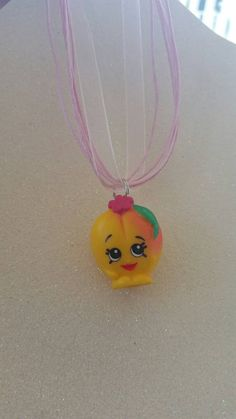 SHOPKINS Necklace Peachy ADORABLE  The Newest and Coolest thing around..... SHOPKINS!! who doesnt love these cute little shopkin