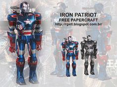 RGatt Personal Work and Tests: IRON PATRIOT FREE PAPERCRAFT
