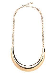 Gold Crescent Bib\\ Bauble Bar