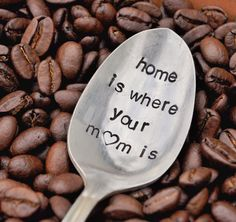 Home is where your Mom is Vintage Coffee Spoon by jessicaNdesigns, $13.50