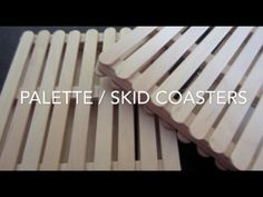 DIY: Popsicle Stick Coasters ♡ Theeasydiy #RoomDecor - YouTube