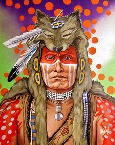 Red Dog by Riel Benn(award winning artist from the Birdtail Sioux First Nation,Southwestern Manitoba)