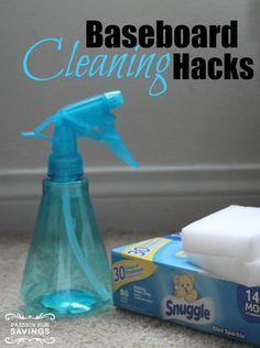 Baseboard Cleaning Hacks! Easy Tips and Tricks!