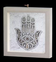 Carmel Gifts - Hamsa Blessing Framed, $61.50 (http://www.carmelgiftshop.com/hamsa-amulets/hamsa-blessing-framed/)