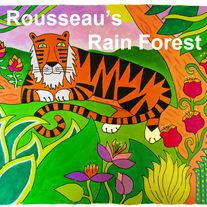 Rousseau's Rain Forest Lesson Plan - Students become acquainted with Henri Rousseau's life and art, and then create their own fantasy rain forest painting inspired by his work. #fabercastell
