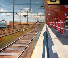 Karl Newman  Waiting: Oil on canvas 138cm x 118cm x 3cm