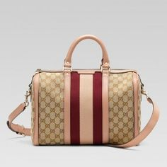 9124f863e24176 Gucci 247205 Fwczg Jahrgang 9795 Web'Medium Boston Bag mit Web-Detail Gucci  Damen