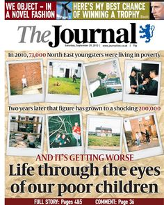 From the Newcastle Journal newspaper: A compelling way to report on a rise in child poverty