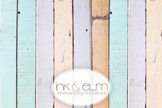 "Vinyl Photography Backdrop NEW 5ft x 5ft, Photo Backdrop Spring Easter Nursery, Vintage Wood Planks backdrop, floordrop, ""Dipped in Pastel"". $54.95, via Etsy."