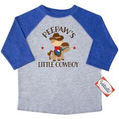 Inktastic Peepaw Grandpa's Little Cowboy Toddler T-Shirt Peepaws Grandson Boys Childs Kids Cute Gift Pee Paw Grandpa Grandfather Grandparents Tees. Child Preschooler Kid Clothing Apparel Hws, Size: 4T, Blue