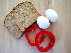 Egg in a bell pepper.