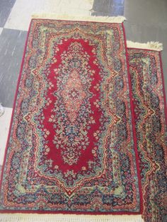 Red Wool Rug Fringe Issues PA 28