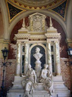 Marble Mausoleum in the Arcades at Zentralfriedhof Vienna, Austria  by Diana Mayfield