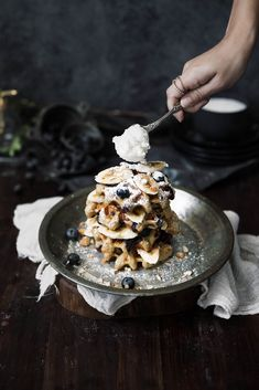A powerhouse of flavor, these Blueberry Banana Almond Oat Flour Waffles are delicious AND nutritious!