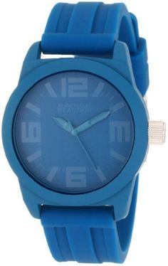 Kenneth Cole REACTION Women's RK2225 Round Analog Blue Dial Watch. Solid dependable Japanese-Quartz Analog movement. Comfortable and pliable silicone strap. Solid durable metal rubberized coated case. Limited lifetime warranty. Water resistant to 99 feet (30 M): withstands rain and splashes of water, but not showering or submersion.