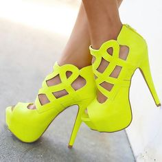 Claudette Dessous - Neon Green. | Naughty In Neon | Pinterest