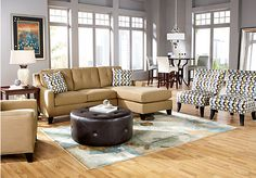 Shop for a Cindy Crawford Home   Madison Place Peat   3 Pc Sectional Living Room at Rooms To Go. Find Living Room Sets that will look great in your home and complement the rest of your furniture. #iSofa #roomstogo