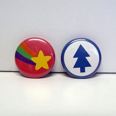 Each pin is 1. High Quality pinback buttons inspired from Gravity Falls Includes: Dipper Hat Pine Tree Mabels Sweater Design