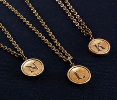 Typewriter Key Necklace - Would really like a J!