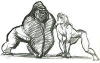 THE ART OF GLEN KEANE.: TARZAN