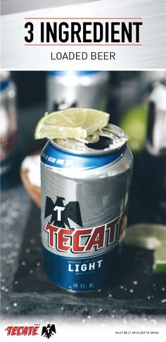 Take your beer to the next level this holiday season by adding a dash or two of hot sauce, pinch of salt, and a lime to create a Loaded Tecate. Alcohol Drink Recipes, Beer Recipes, Copycat Recipes, Mexican Food Recipes, Simple Beer Recipe, Bar Tricks, Cocktail Recipes, Cocktails, Margarita Salt