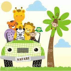 23 Clever DIY Christmas Decoration Ideas By Crafty Panda Safari Party, Safari Theme, Baby Shower Clipart, Jungle Theme Birthday, Monkey Art, Baby Clip Art, Baby Scrapbook, Jungle Animals, Baby Decor