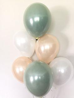 Sage Green Balloons Light Green Wedding Decor Green and Balloon Lights, Balloon Arch, Balloon Garland, Bridal Shower Decorations, Wedding Decorations, Decor Wedding, Wedding Ideas, Bebe Shower, Green Bridal Showers