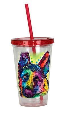 German Shepherd Tumbler – Double Walled Acrylic 16 Ounces