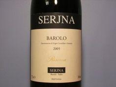 Serjna Barolo Riserva 2005, Italy.  8/10  http://www.honestwinereviews.com/2013/02/serjna-barolo-riserva-2005.html