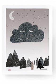Plakat, den drømmende sky (A3)