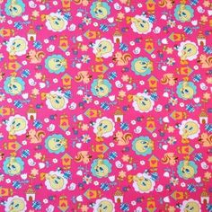 Sheetworld Tweety Bird Fitted Crib Sheet Color: Hot Pink